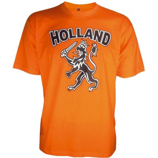 WK T-shirt Holland met zwarte leeuw