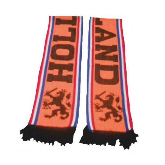 WK Oranje Holland supporters sjaal enkel gedrukt