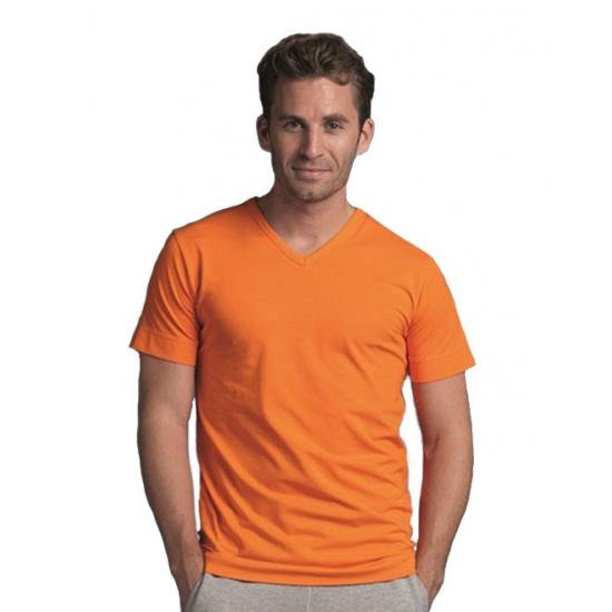 WK Oranje heren t-shirt met v-hals