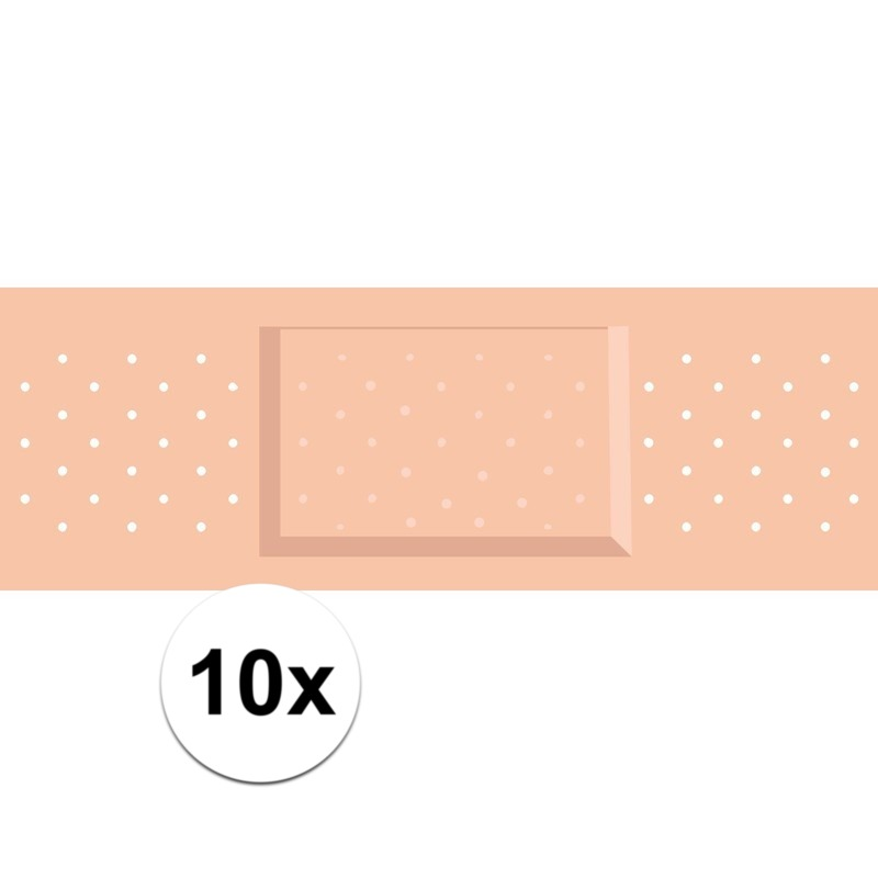 10 x Mega pleister stickers voor dokter-zuster kostuums