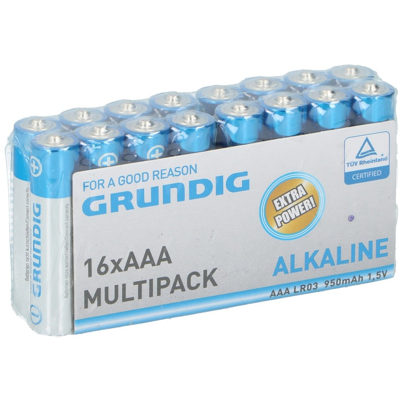 16x Grundig AAA batterijen alkaline 1.5 V