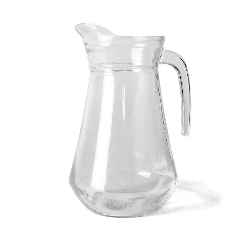 1x Glazen water karaffen-waterkannen 1 liter