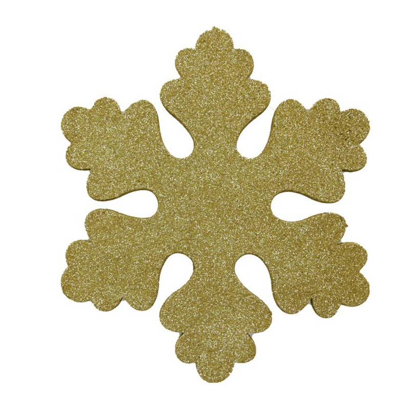 1x Gouden decoratie sneeuwvlok van foam 40 cm