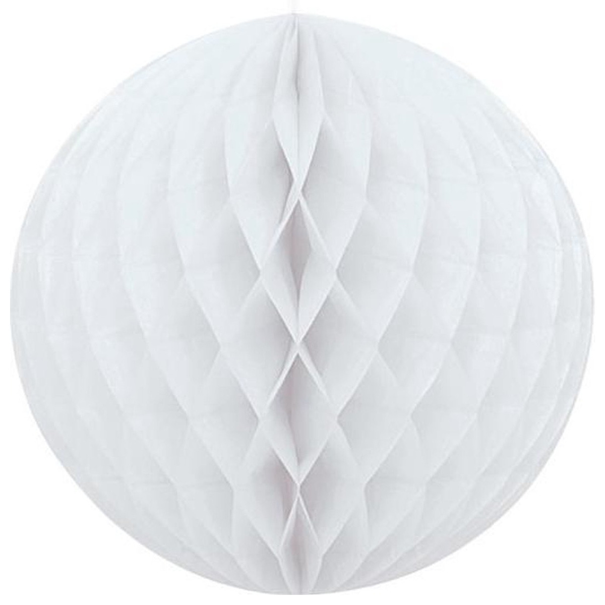1x Papieren kerstballen wit 10 cm kerstversiering