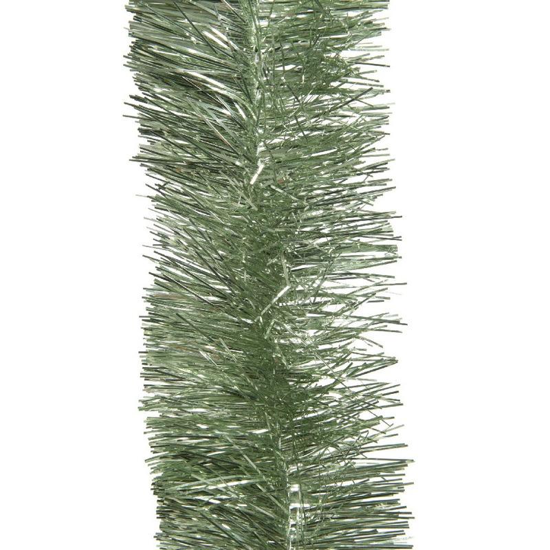 1x Salie groene slingers-lametta kerstboom guirlandes 270 x 7cm