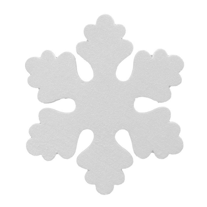 1x Witte decoratie sneeuwvlok van foam 25 cm