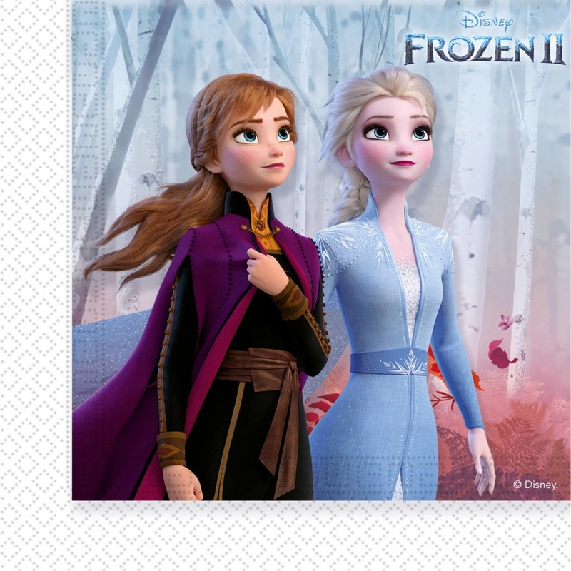 20x Disney Frozen 2 themafeest servetten 33 x 33 cm papier