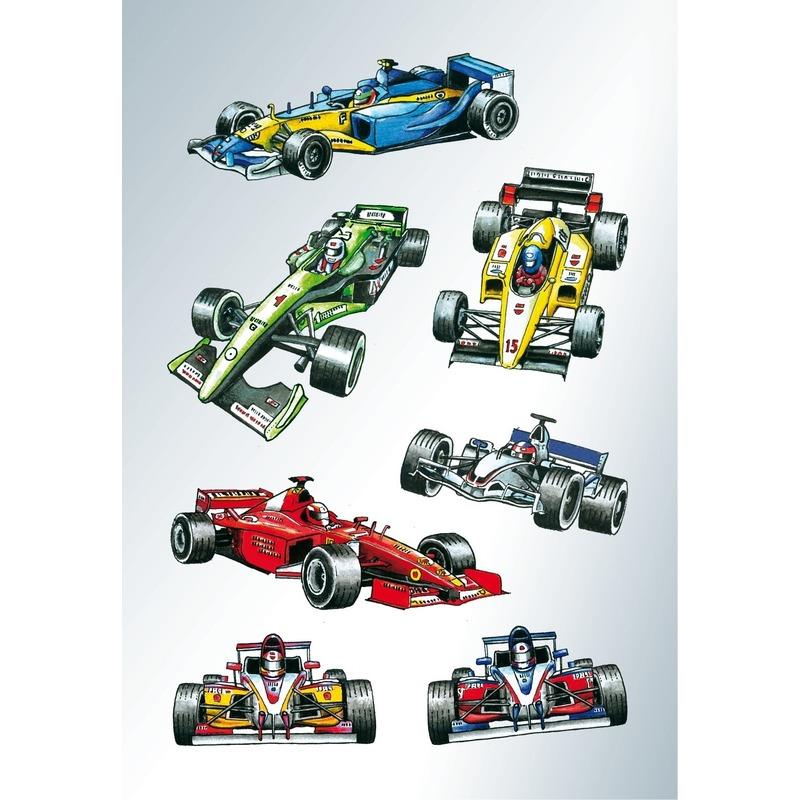 21x Raceauto-formule 1 stickers