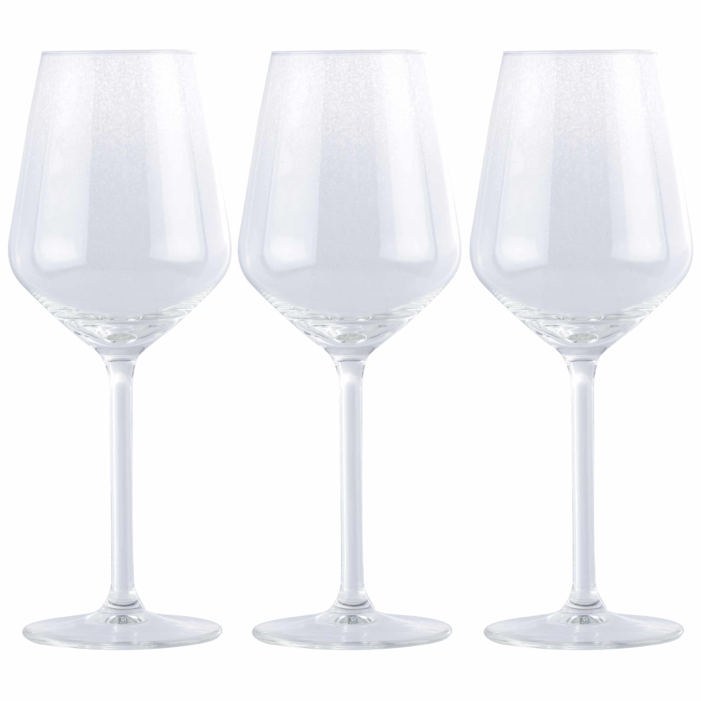 24x Goedkope wijnglazen set voor witte wijn 370 ml