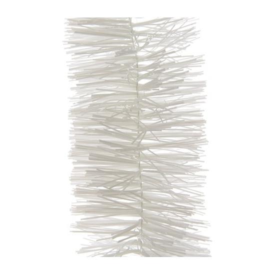 2x Kerstboom folie slinger wit 270 cm