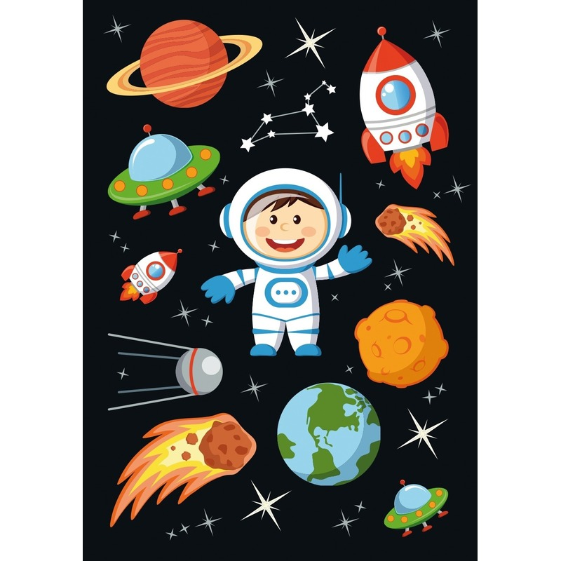 30x Astronauten-ruimte stickers