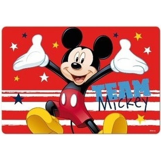 3D placemats Disney Mickey Mouse rood 42 x 28 cm
