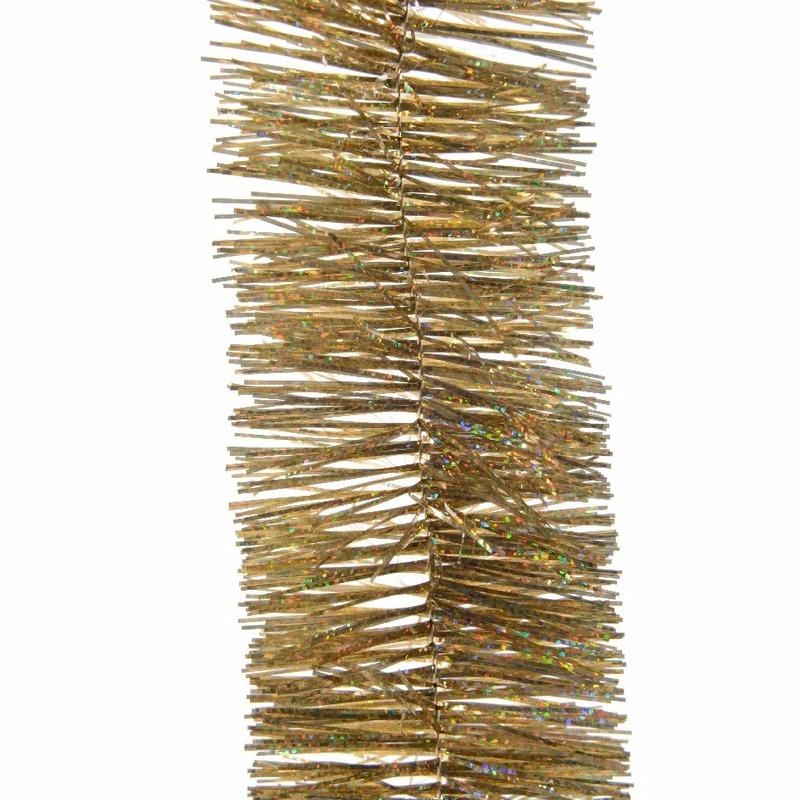 3x Kerstboom folie slinger goud 270 cm