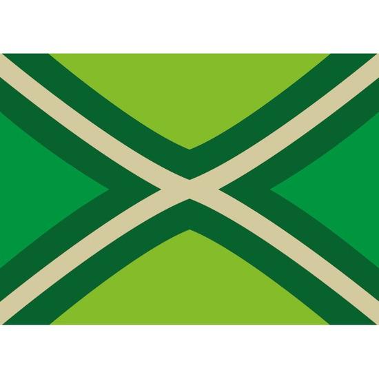 5x Achterhoekse vlag stickers 7.5 x 10 cm