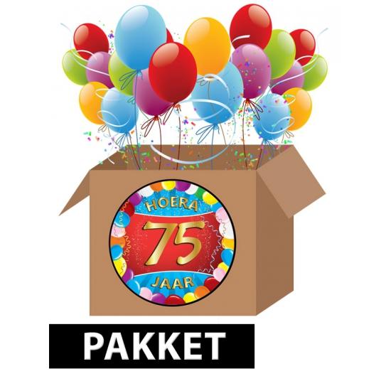 verjaardag 75 jaar Verjaardag 75 jaar pakket in oranje artikelen winkel Oranjeshopper verjaardag 75 jaar