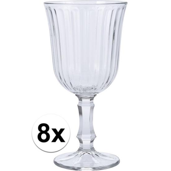 8x Wijn glazen 180 ml