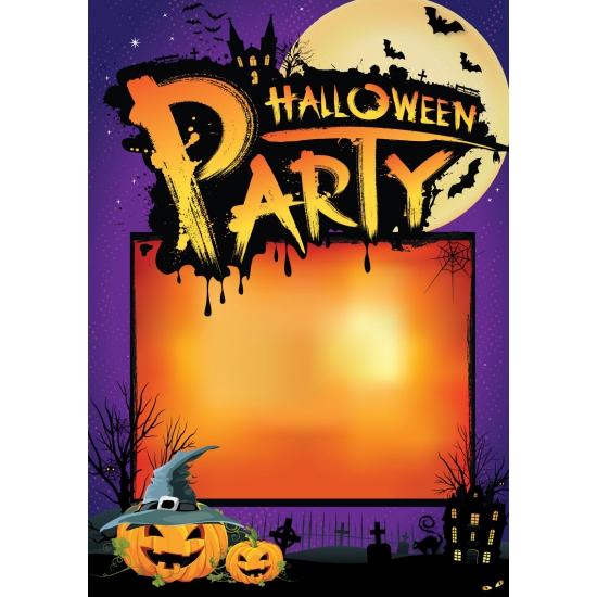 Halloween Straatversiering.Uitnodigings Poster Halloween A2 In Oranje Artikelen Winkel