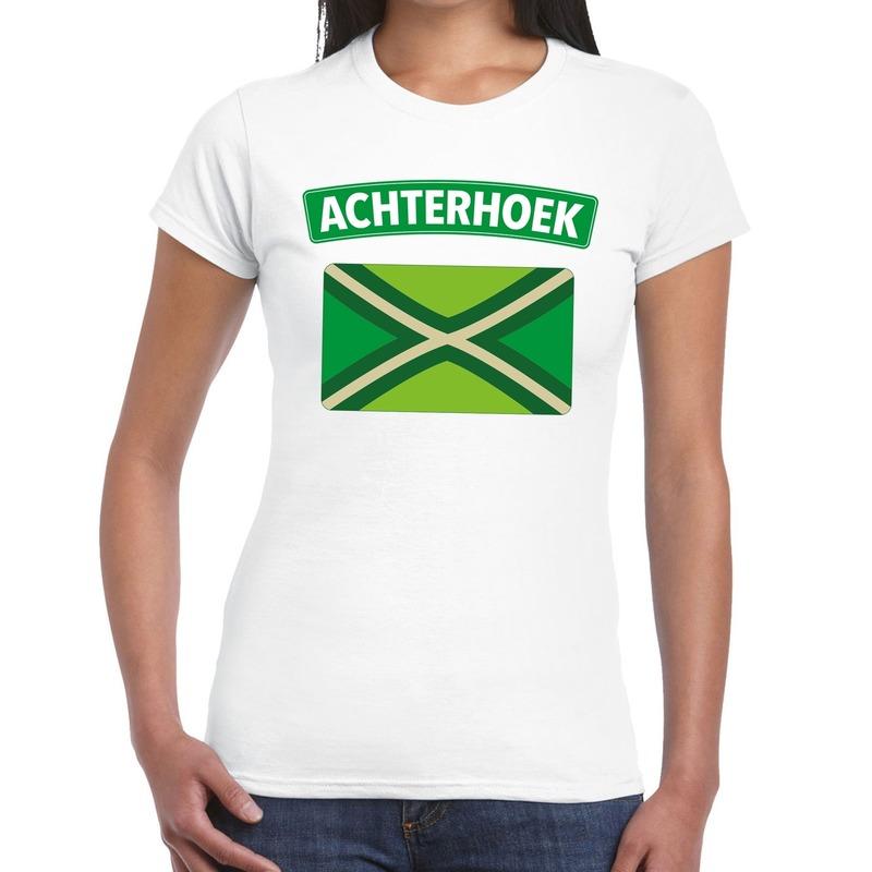Achterhoek en vlag festival t-shirt wit dames