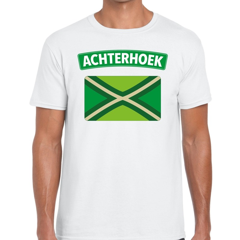 Achterhoek en vlag festival t-shirt wit heren