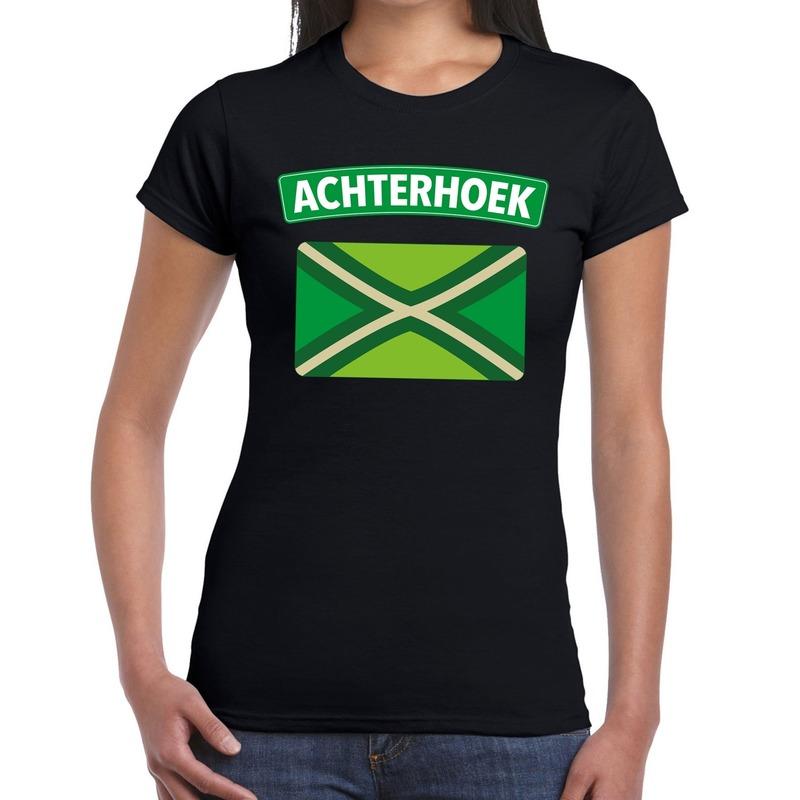Achterhoek en vlag festival t-shirt zwart dames