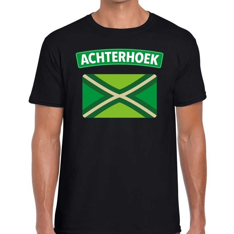 Achterhoek en vlag festival t-shirt zwart heren