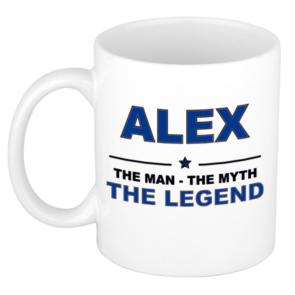 Alex The man, The myth the legend bedankt cadeau mok-beker 300 ml keramiek