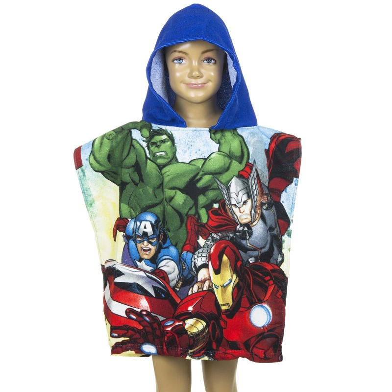 d361f856ad134c Avengers badcape blauw voor kinderen in oranje artikelen winkel ...
