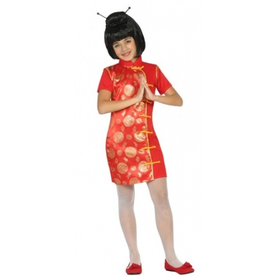 Aziatische meisjes in kostuum