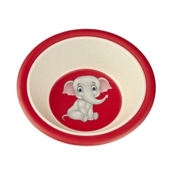 Bamboe ontbijt kommetjes olifant voor kinderen 16 cm
