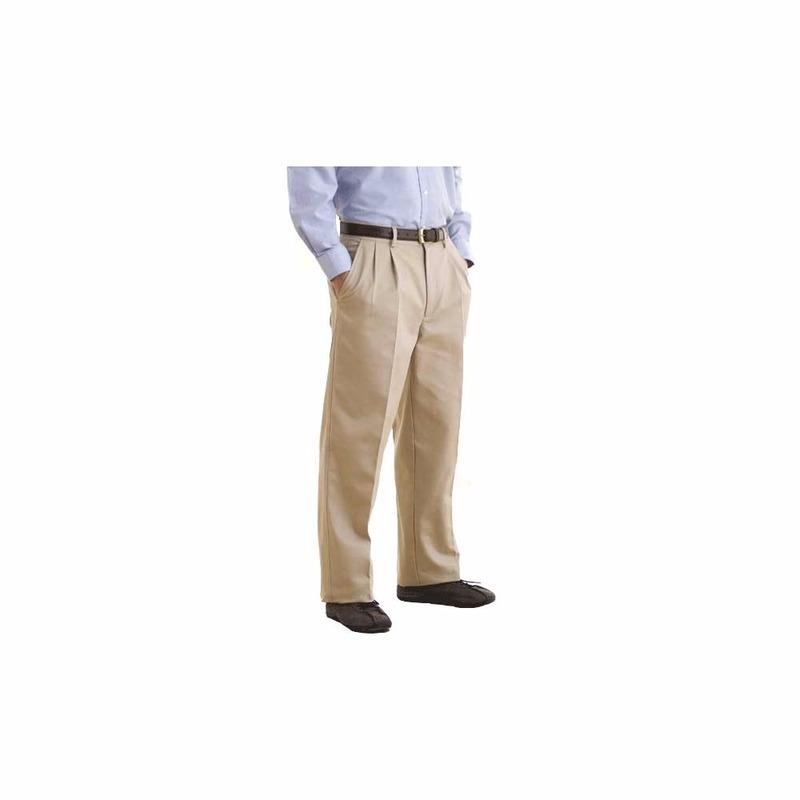 c134811fcf8 Beige katoenen lange broek voor heren in oranje artikelen winkel ...