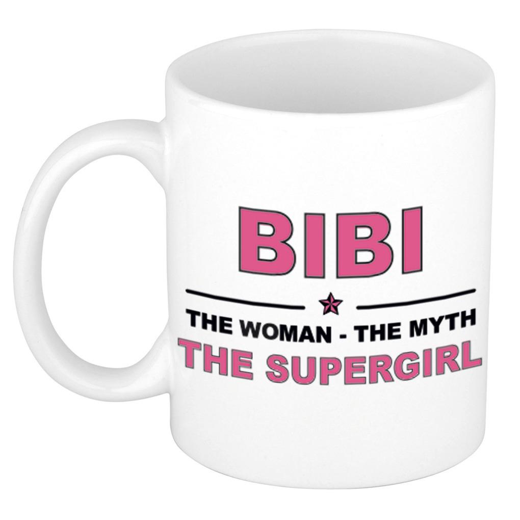 Bibi The woman, The myth the supergirl bedankt cadeau mok-beker 300 ml keramiek