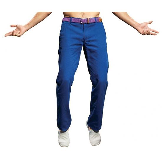 dcaf27a3eeb Blauwe katoenen lange broek heren in oranje artikelen winkel ...