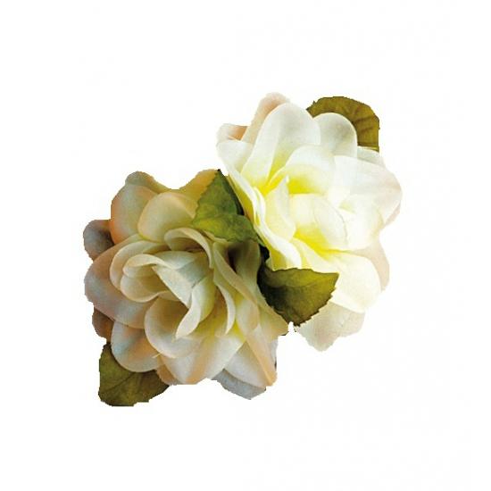 Bloemen haarclip witte roos