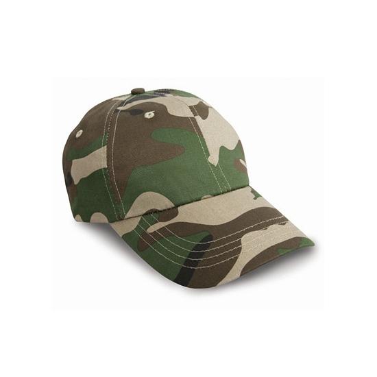 Camouflage baseball petten