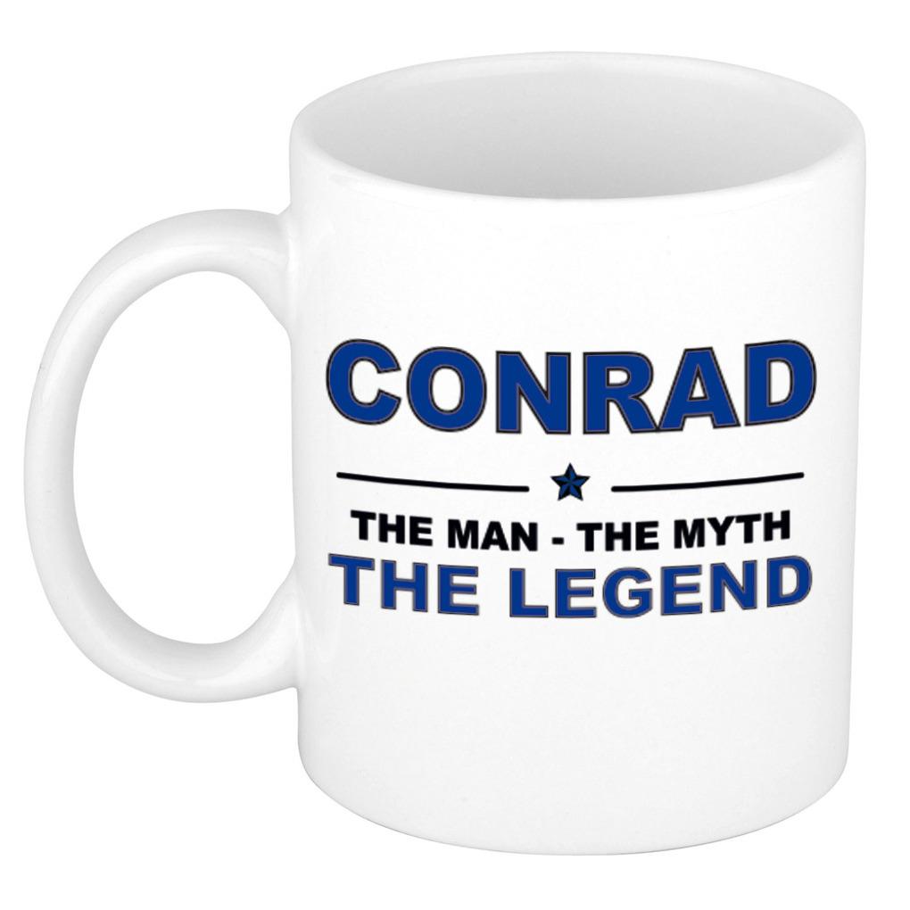 Conrad The man, The myth the legend bedankt cadeau mok-beker 300 ml keramiek