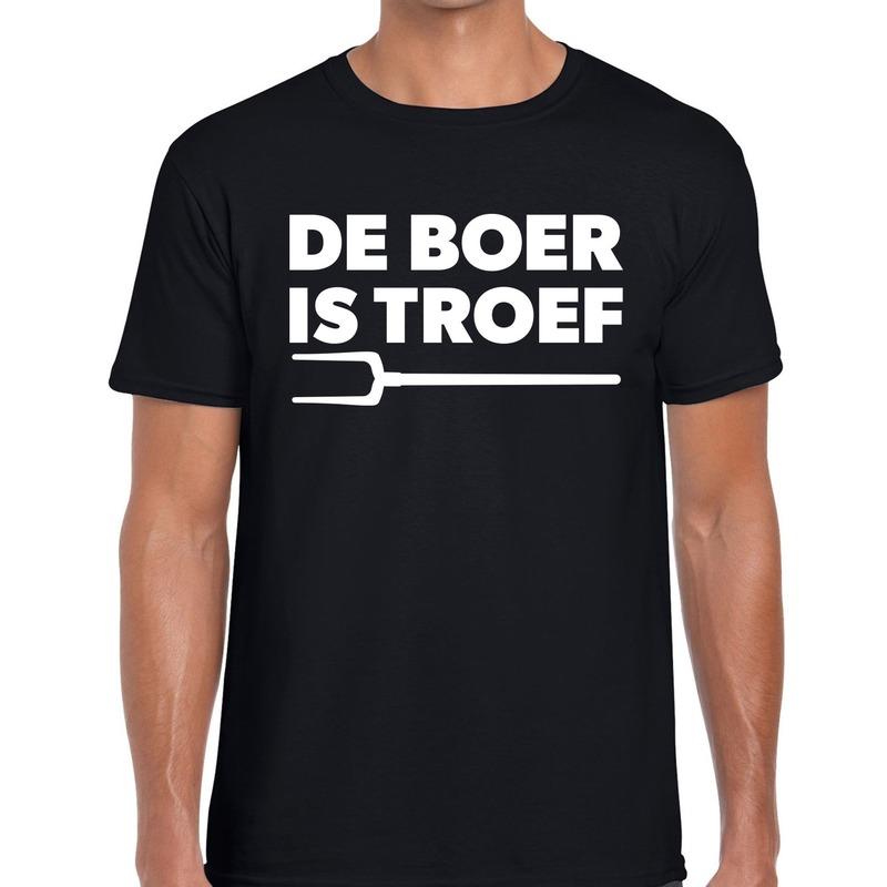 De boer is troef festival t-shirt zwart heren