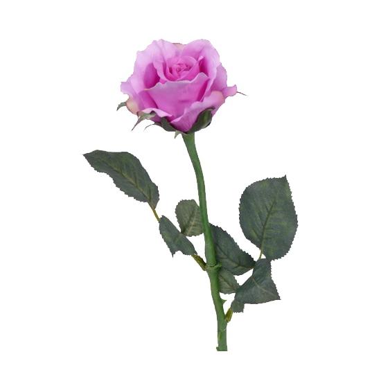 Decoratie roos paars 58 cm