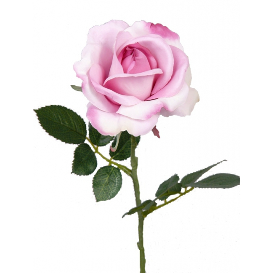 Decoratie roos roze 37 cm