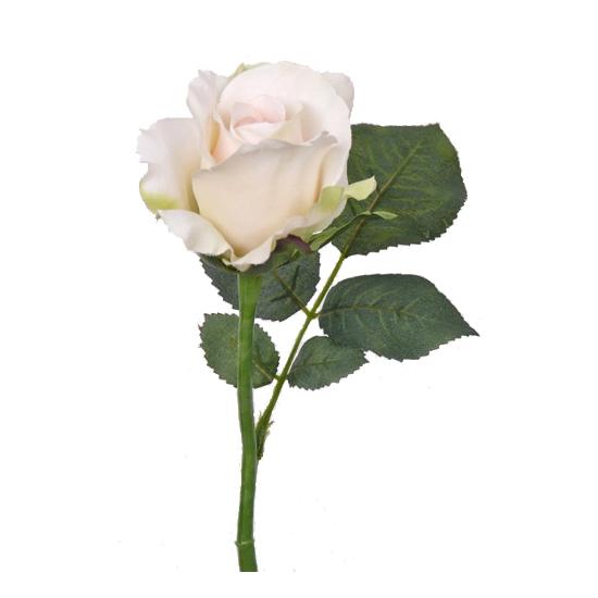 Decoratie roos wit 30 cm