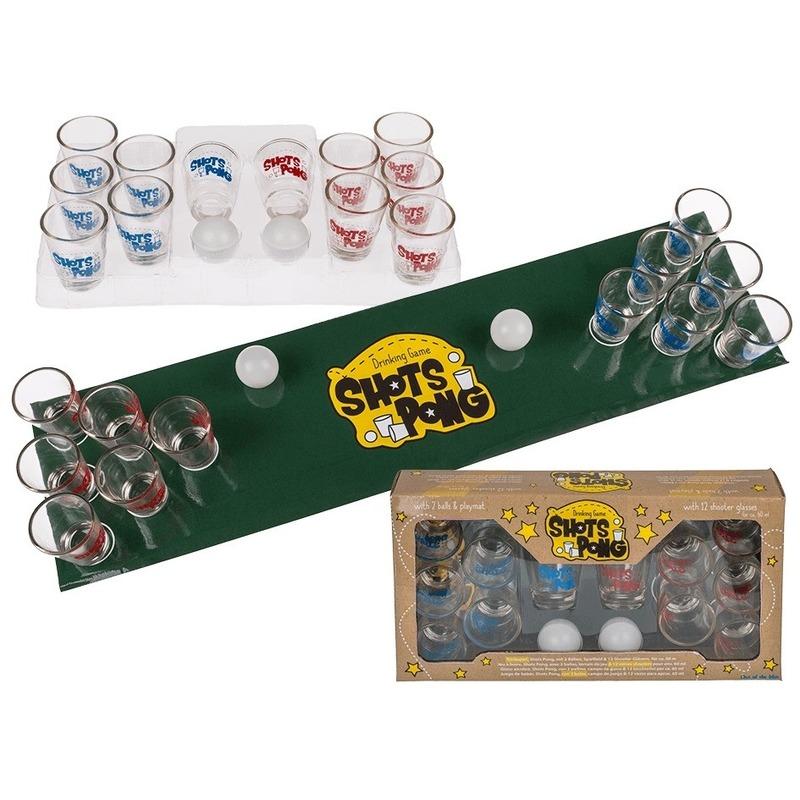 Drankspel-drinkspel shotjes pong