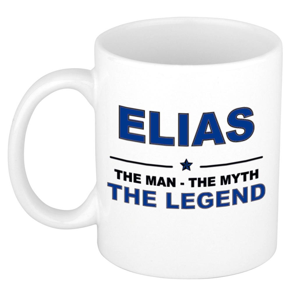 Elias The man, The myth the legend bedankt cadeau mok-beker 300 ml keramiek