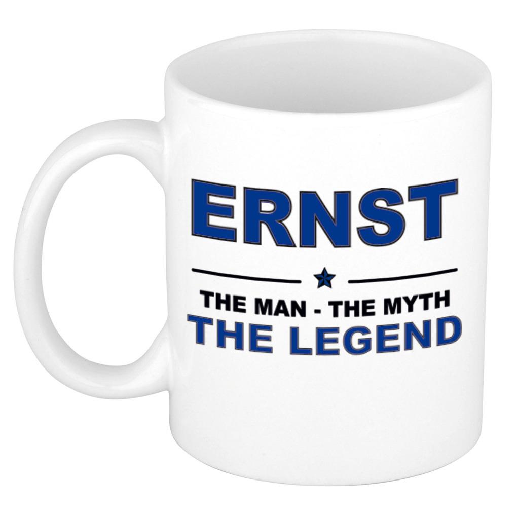 Ernst The man, The myth the legend bedankt cadeau mok-beker 300 ml keramiek