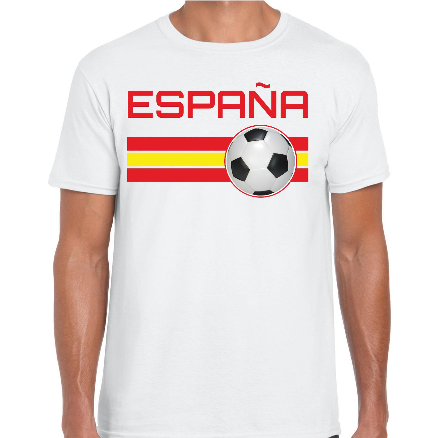 Espana / Spanje voetbal / landen t-shirt wit heren