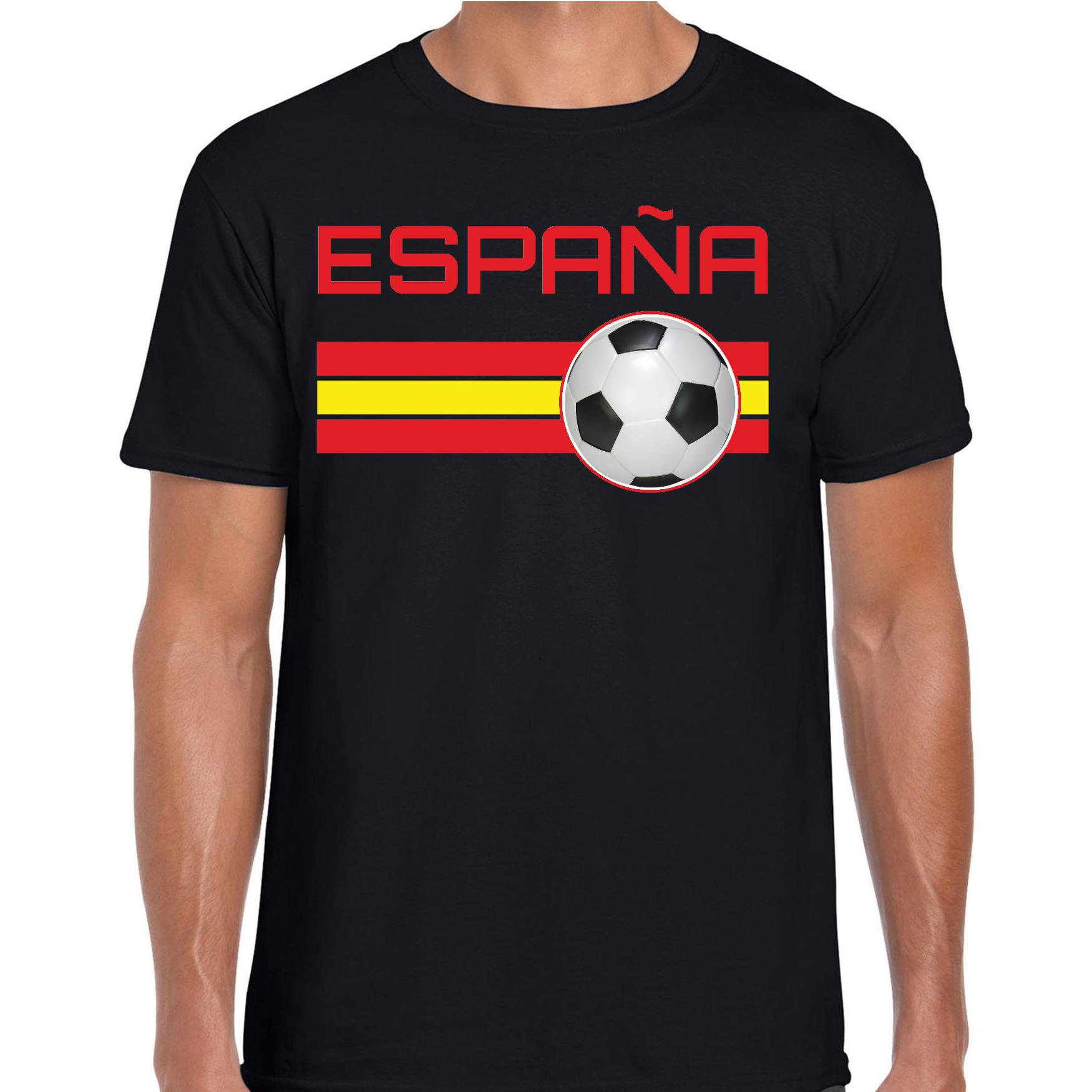 Espana / Spanje voetbal / landen t-shirt zwart heren