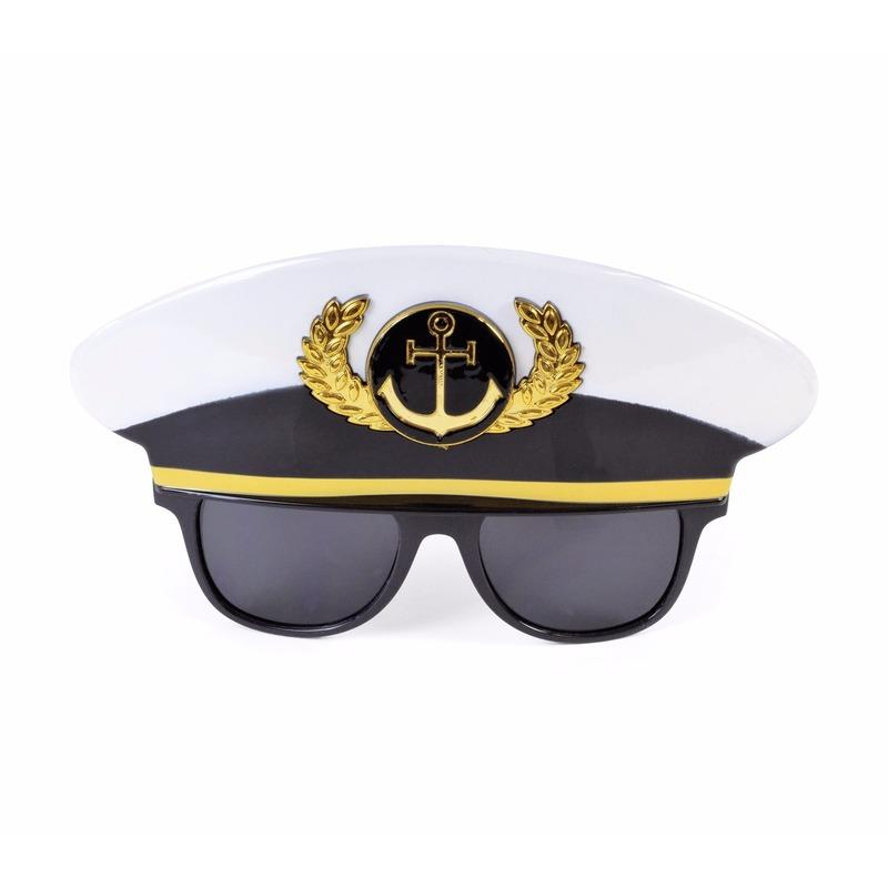 Fun kapitein bril voor volwassenen