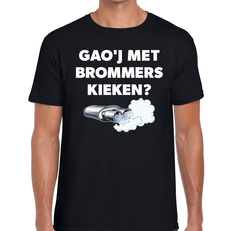 Gaoj met brommers kieken festival t-shirt zwart her