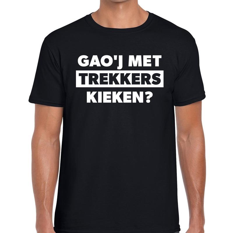 Gaoj met trekkers kieken festival t-shirt zwart heren