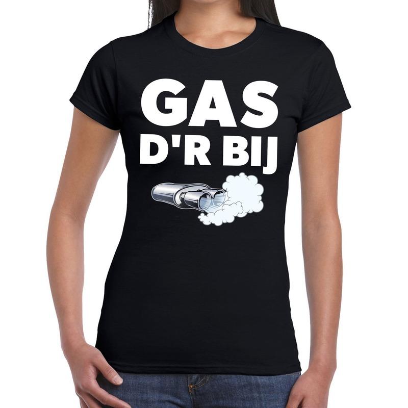 Gas der bij festival t-shirt zwart dames