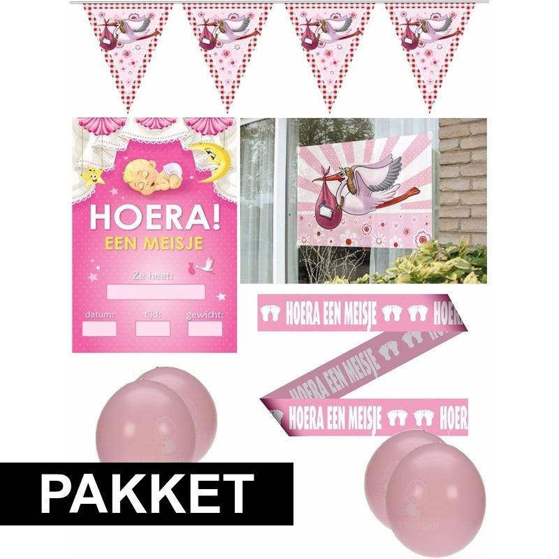 Geboorte meisje feestpakket