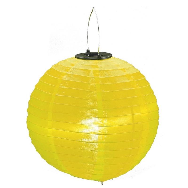 Gele solar party lampionnen 30 cm